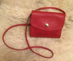 """Vintage Red Coach """" Chrystie """" USA Made 1994 Excellent $124.99"""