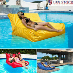 Swimming Pool Floating Bean Bag Soft Lounge Chair Sofa Cover Reading Relaxing Us