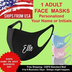 Your Name - Initial Personalized Unisex Face Mask Reusable Washable Printed Mask $6.99