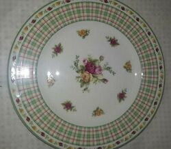 Royal Albert Old Country Roses Casual Plaid Salad Plate 2630483 Priority Ship
