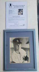 Authenticated Through Beckettand039s Roger Maris Signed Photo With Note To Louise