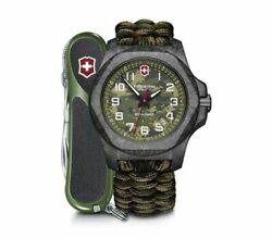 New Victorinox Inox Limited Edition Green Dial Paracord Style Menand039s Watch 241927