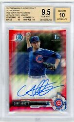 2017 Cory Abbott Bowman Chrome Autographs Auto Red Wave Refractor /5 Bgs 9.5 10andnbsp