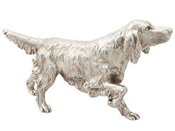 Contemporary Cast Sterling Silver Model Of An Irish Setter 2011 Bse Products