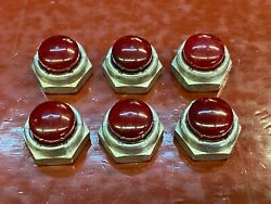 1940 And039s 1950 And039s Red Rocker Shaft Nut End Red Nylon Cap 9/16 - 24