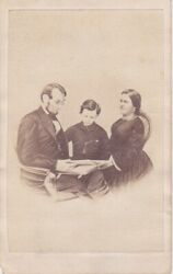 Cdv Carte De Visite Abraham Lincoln Mary And Tad Lincoln From Brady Photo