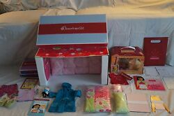 American Girl Bloom Bed & and Bedding NIB Robe Pajamas Paperdolls Honey Dog Tee