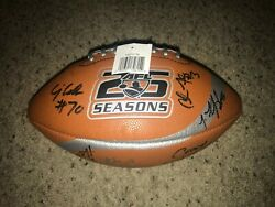 Afl Arena Football League Spalding Chicago Rush Team Signed Youth Football New