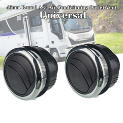 2x46mm Universal Round A/c Air Conditioning Outlet Vent Trim For Rv Bus Car Boat