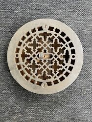 Tk 3 Antique Round Heating Grate 8.25andrdquo Cleaned And Lacquered