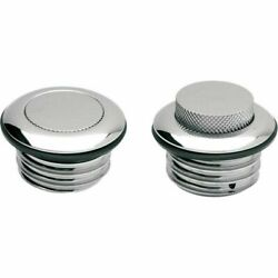 Drag Vented Chrome Pop-up Gas Caps Harley-davidson 1984- Early 1996