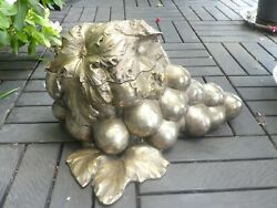 Over Sized Italian Franco Lapini Silverplate Bunch Of Grapes Ice Bucket
