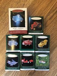 Hallmark Miniature Ornaments Kiddie Car Series Tractor Murray W/boxes Lot Of 8