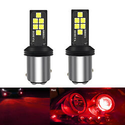 A1 Auto 2x Bay15d 1157 Led Bulb Bright Red High Power 3030 Smd Drl Daytime Light