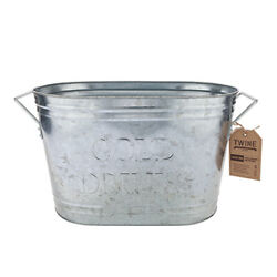 Twine 2286 Country Home Silver Galvanized Metal Ice Bucket 21 oz. Capacity $41.01