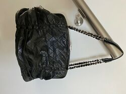 chanel authentic black leather purse that's not made anymore.  Rare style!