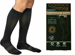 Copper Fit Unisex Easy-On and Easy-Off Knee High Compression Socks SM LXL $11.99