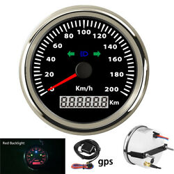 White Gps Speedometer Mph / Km/h Led Red Backlight For Car Truck Motorcycl