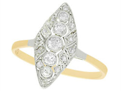 Antique 0.39 Ct Diamond And 14k Yellow Gold Marquise Ring Art Deco