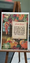Wwi And Wwii Posters Originals - 1918 Eat Less