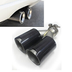 Double-barrel Glossy Carbon Fiber Exhaust End Pipe M Performance For Bmw Series