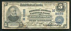 1902 5 The Fletcher American Nb Of Indianapolis In National Currency Ch. 9829