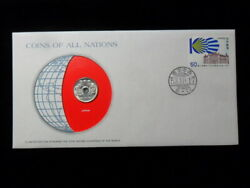Japan 50 Yen Japanese Coins Of All Nations Cover Stamp Coa Franklin Mint