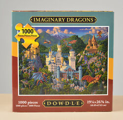 Imaginary Dragons - Eric Dowdle Puzzles - Jigsaw Puzzle 1000 Pcs - 19x26 Used