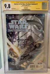 Han Solo Force Awakens 1 Cgc 9.8 Signed By Harrison Ford Signature Series Comic