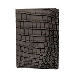NEW ZILLI PASSPORT AND CREDIT CARD HOLDER 100% CROCODILE LEATHER ZBAU4