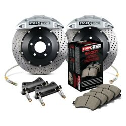For Infiniti G35 07-08 Stoptech Performance Drilled 2-piece Front Big Brake Kit