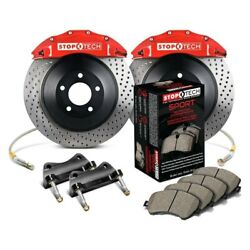 For Dodge Charger 12-16 Stoptech Touring Drilled 1-piece Front Big Brake Kit
