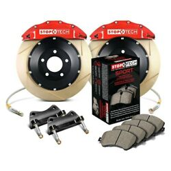 For Bmw 128i 08-13 Stoptech Performance Slotted 2-piece Front Big Brake Kit