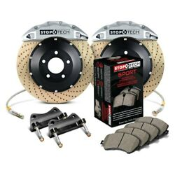 For Bmw 128i 08-13 Stoptech Performance Drilled 2-piece Front Big Brake Kit