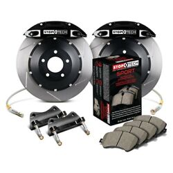 For Bmw 128i 08-13 Stoptech Performance Slotted 2-piece Rear Big Brake Kit
