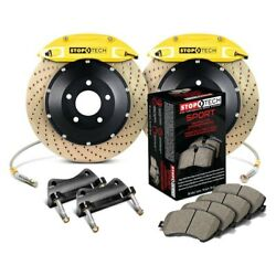 For Ford Fusion 06-12 Stoptech Performance Drilled 2-piece Front Big Brake Kit