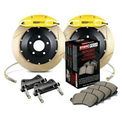 For Infiniti G35 07-08 Stoptech Performance Slotted 2-piece Rear Big Brake Kit