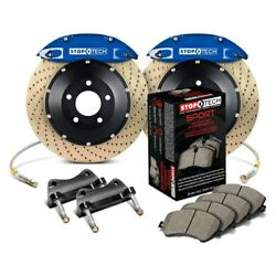 For Ford Mustang 87-93 Stoptech Performance Drilled 2-piece Front Big Brake Kit