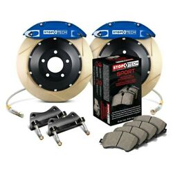 For Ford Mustang 87-93 Stoptech Performance Slotted 2-piece Front Big Brake Kit