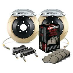 For Mercedes-benz C55 Amg 05-06 Performance Slotted 2-piece Front Big Brake Kit