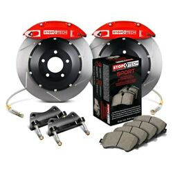 For Bmw 328i 07-13 Stoptech Performance Slotted 2-piece Rear Big Brake Kit