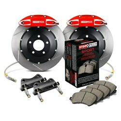 For Cadillac Cts 09-15 Stoptech Performance Slotted 2-piece Rear Big Brake Kit