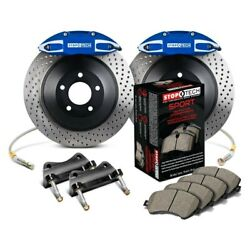 For Honda Civic 08-09 Stoptech Touring Drilled 1-piece Front Big Brake Kit