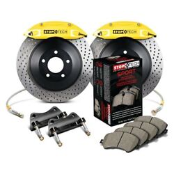 For Dodge Charger 06-15 Stoptech Touring Drilled 1-piece Rear Big Brake Kit