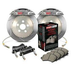 For Bmw X1 13-15 Stoptech Trophy Sport Slotted 2-piece Rear Big Brake Kit
