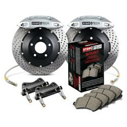 For Ford Focus 13-18 Stoptech Performance Drilled 2-piece Front Big Brake Kit