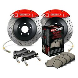 For Dodge Charger 06-10 Stoptech Touring Drilled 1-piece Rear Big Brake Kit