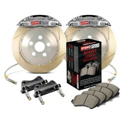 For Ford Focus 13-18 Stoptech Trophy Sport Slotted 2-piece Front Big Brake Kit