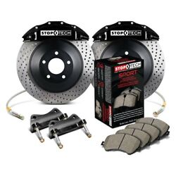 For Ford Mustang 05-14 Stoptech Touring Drilled 1-piece Front Big Brake Kit