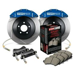 For Dodge Charger 06-16 Stoptech Touring Slotted 1-piece Front Big Brake Kit